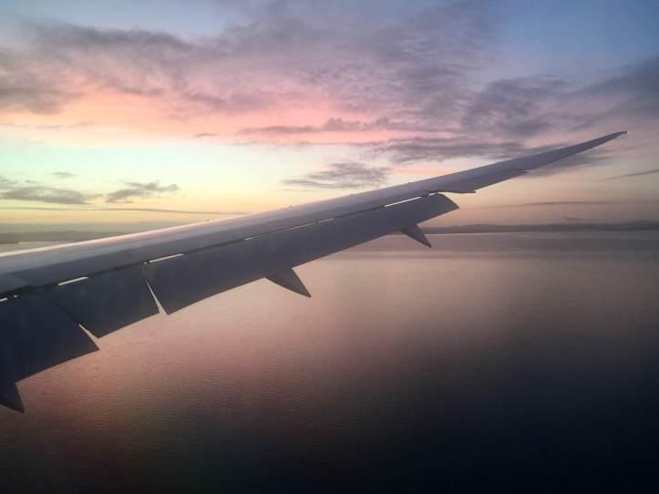 Andrea Australia Airplane Wing Sunrise